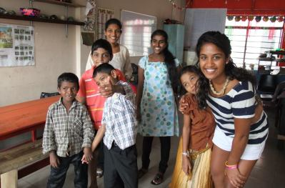 Tea image - some of the kids being helped by CHILd Action Lanka